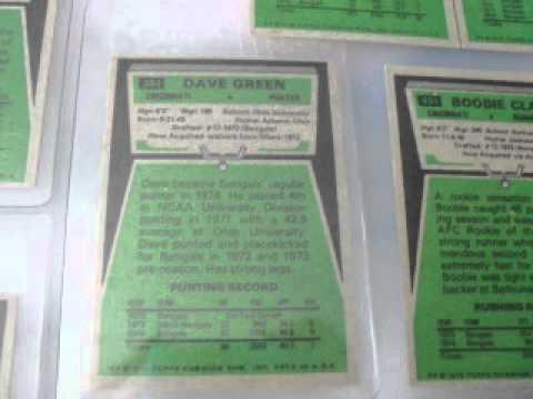 1975 TOPPS Bengals 17 Team Card Set $235