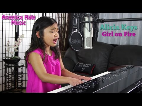 Alicia Keys - Girl on Fire Amazing Cover by 9 year old Angel