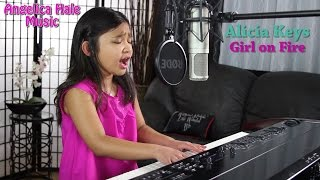alicia keys girl on fire amazing cover by 9 year old angelica hale
