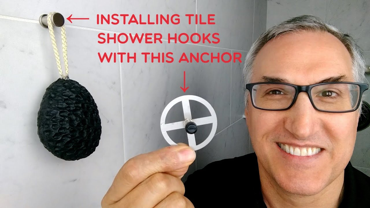 tileware products tile shower hooks how to install our permatile waterproof anchors with thinset