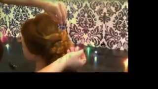 Видео урок прическа на средние волосы