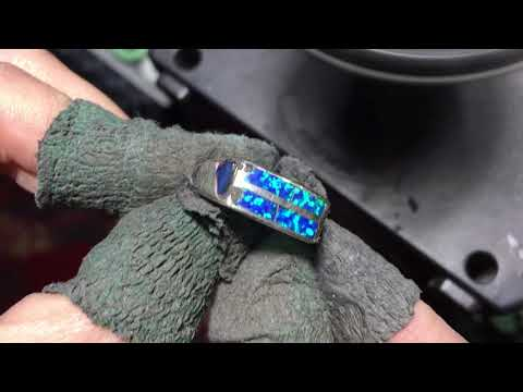 Removing SCRATCHES from an Opal and Silver Ring