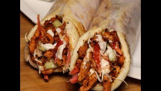 Grilled Chicken Shawarma with Tahini Sauce By Recipes of the World