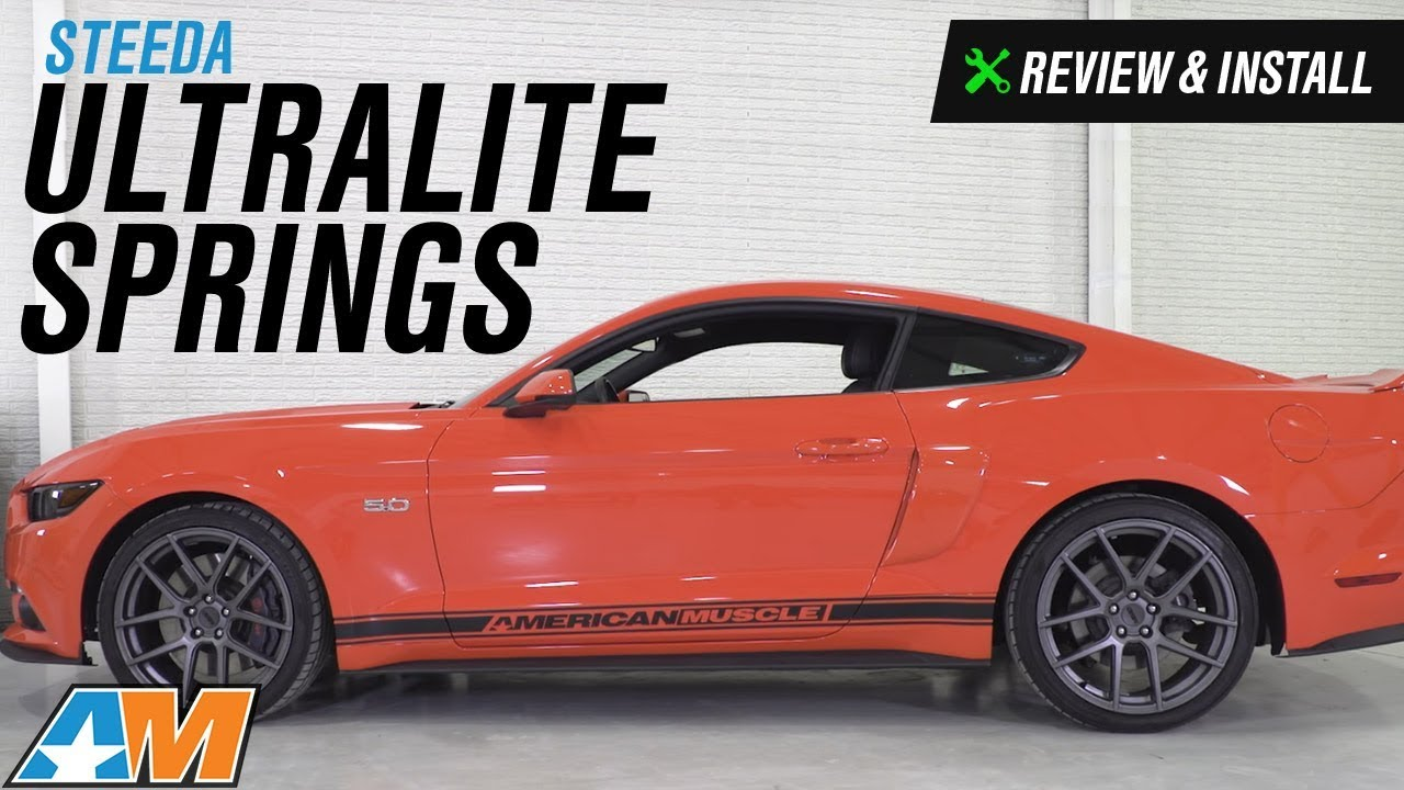 2015 2017 mustang steeda ultralite springs linear review install