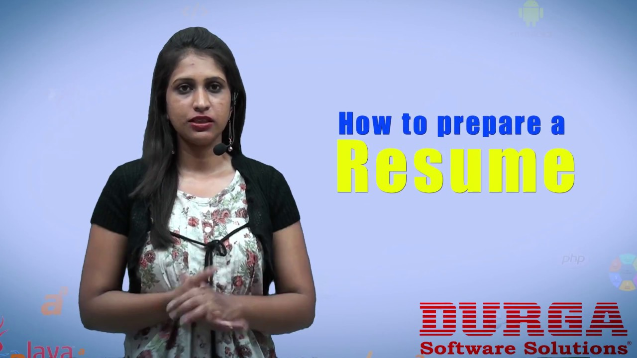 How To Prepare A Good Resume  Resume Preparation Tips