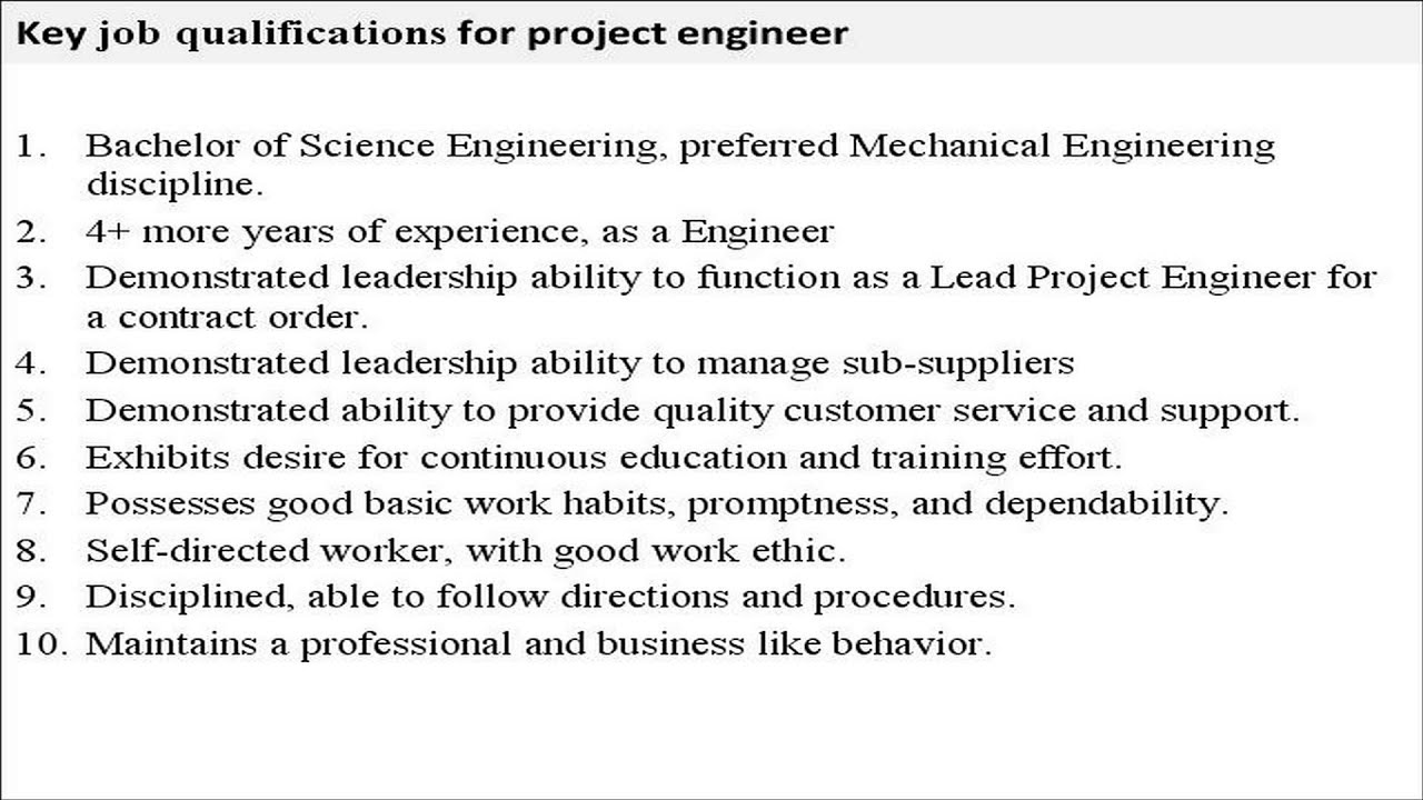 project engineer job description project engineer job description