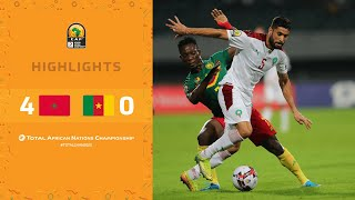 HIGHLIGHTS   Total CHAN 2020   Semi Final 2: Morocco 4-0 Cameroon