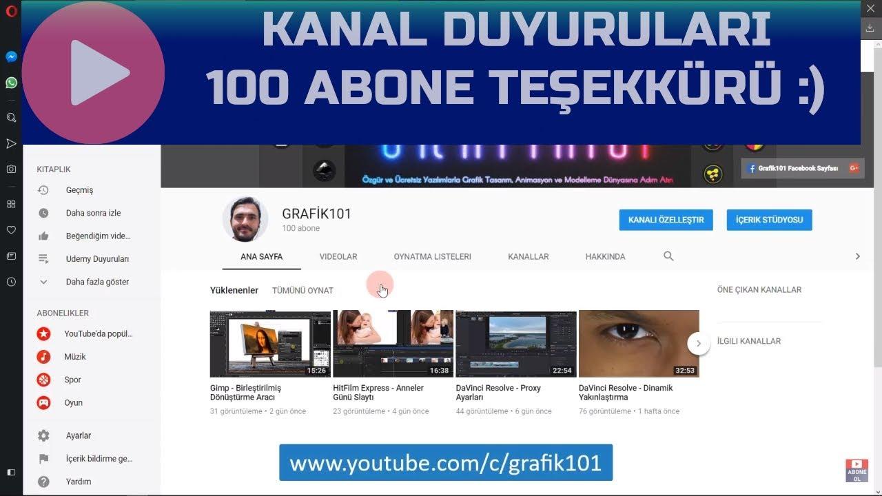 youtube özel url