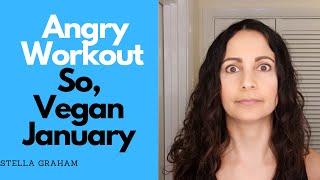 Angry Workout - Dumbbell Squat Press - So, Vegan January...💪🏽 😜