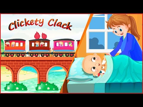 Clickety Clack | Train Song | Nursery Rhymes | Rhymes For Kids | Baby Train Rhymes