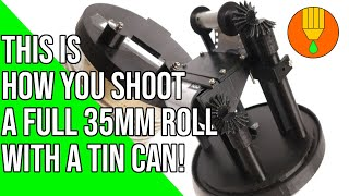 3D-Printing/Pinhole Photography The TINHOLE Camera XL- Shoot a full roll of 35mm film with a tin can