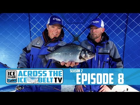 NEW HAMPSHIRE WHITE PERCH - ACROSS THE ICE BELT WITH ICE TEAM