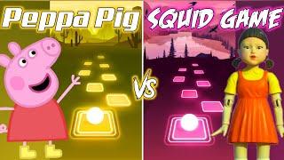Peppa Pig Theme Song VS Squid Game Theme Song   Tiles Hop EDM Rush