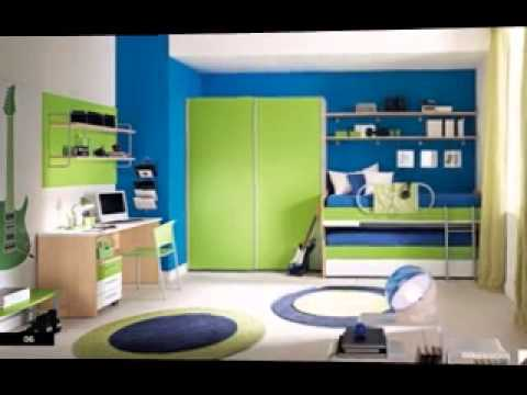 diy blue and green bedroom design decorating ideas - Green Bedroom Design