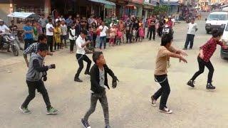 Jaalma (Resham Filili) Dance performance in Flash Mob Dhading Bensi Chowk