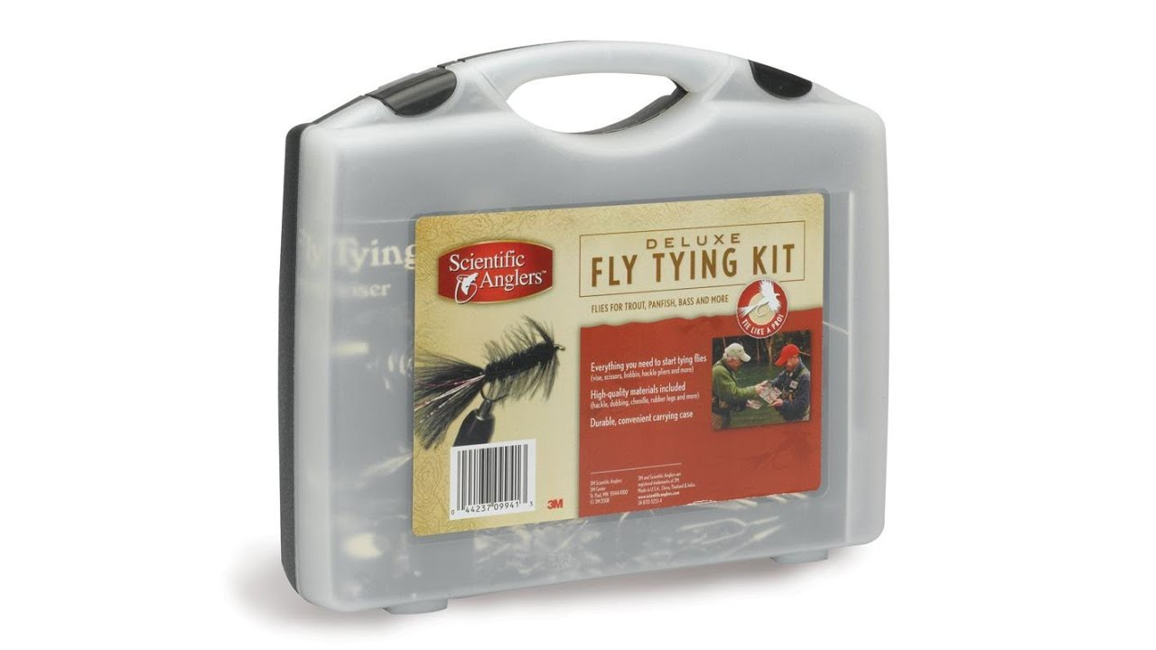 Sa scientific anglers deluxe fly tying kit youtube for Fly fishing tying kit