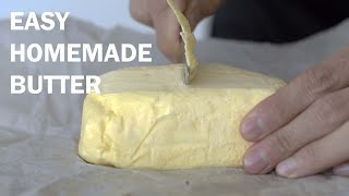 How To Make Butter at Home (Cheese From Milk and Labneh from Yogurt)