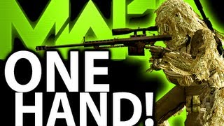Girl Plays COD One Handed! Sniping With 1 Hand Disability Xbox 360 Modern Warfare 3 MSR Gameplay