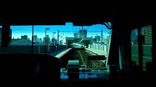 【JR埼京・川越線直通快速川越行【新木場→東京テレポート】《前面展望》