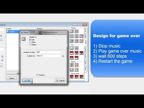 Gamemaker - Adding a gameover screen