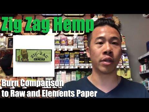 Zig Zag Hemp – Burn Comparison to Raw and Elements Paper