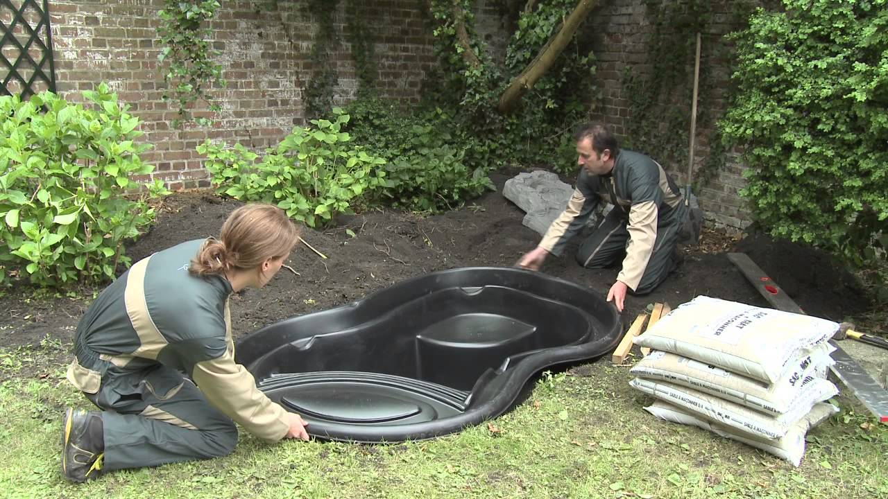 installation ubbink ready made pond youtube