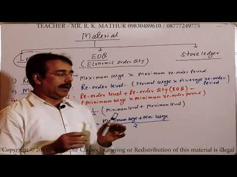 Introduction to Material Costing with formula Economic Order Quantity | Cost & Management Accounting
