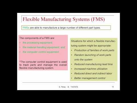 Lecture 4 P1: Manufacturing Systems