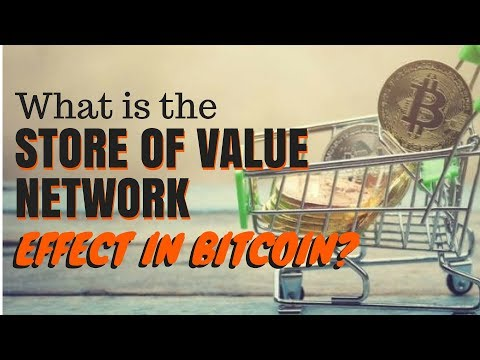 What is the store of value network effect in Bitcoin?