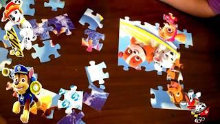 Обучающие пазлы Щенячий Патруль puzzle paw patrol. Любимые герои ЩЕНЯЧИЙ ПАТРУЛЬ.