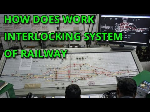 how does work interlocking system of railway