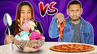 FAT VS SKINNY FOOD CHALLENGE!
