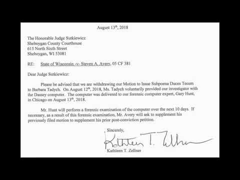 Steven Avery: Barb Turns Over Dassey Computer To Kathleen Zellner