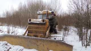 Пуск трактора т-170 болотник