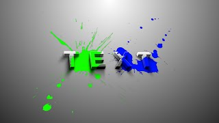 After Effects Tutorial: 3D Splatter Text Effects