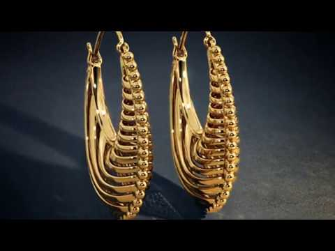 Gold Earrings Designs With Price