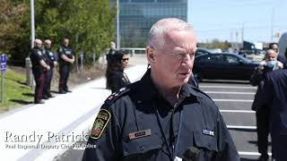 Randy Patrick, Peel Region Deputy Chief of Police at CIF 'Thank you meal' delivery at Peel Police HQ