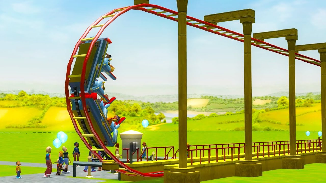 I Built a Roller Coaster That Goes 350,000 MPH - RollerCoaster Tycoon 3