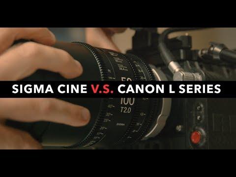 Sigma Cine VS Canon L Series -  Lens Comparison Test