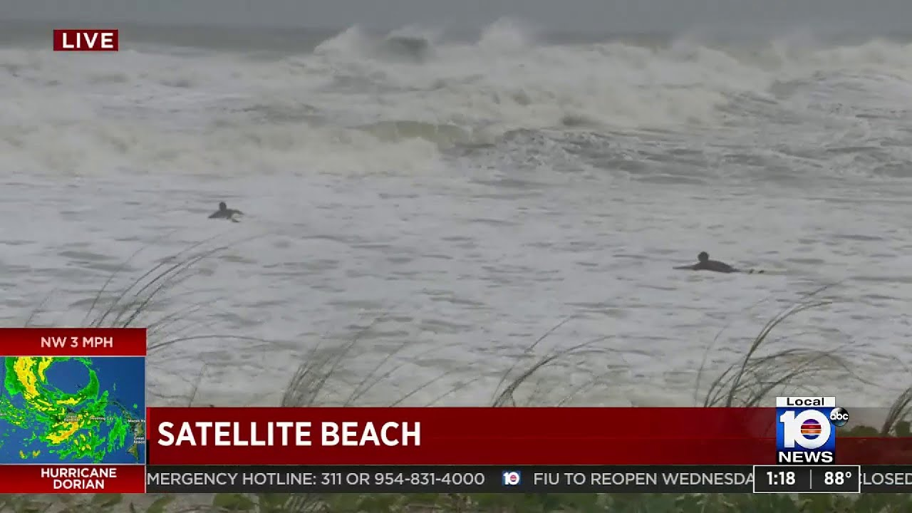 Surfers hit Florida beaches as Hurricane Dorian brings bigger waves to East  Coast