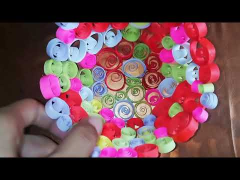 How to Make Quilled Basket | Paper Basket | Quilling Basket | Recycling | Quilled Flower Basket