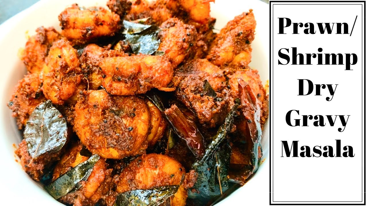 Prawn/ Shrimp Dry Masala Gravy | Prawn Fry | Spicy Prawn Roast | Shrimp recipe in English