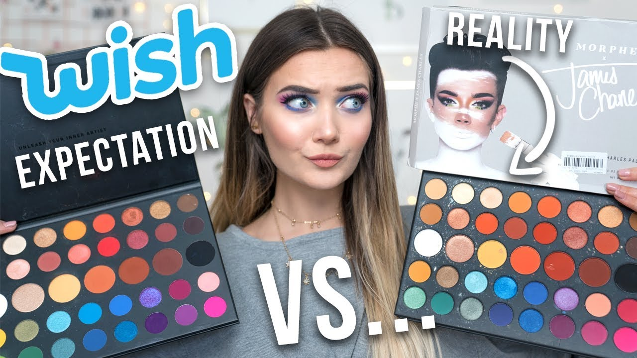 I Bought A Fake James Charles Palette On Wish Real Vs Fake Youtube
