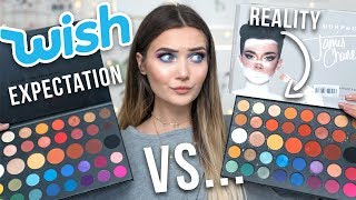 I BOUGHT A FAKE JAMES CHARLES PALETTE ON WISH... REAL VS FAKE