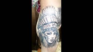 #tattoo Indian Red Woman