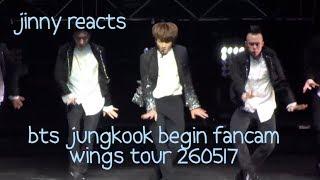 [JINNY REACTS] Jungkook Begin Fancam - Wings Tour Sydney 260517
