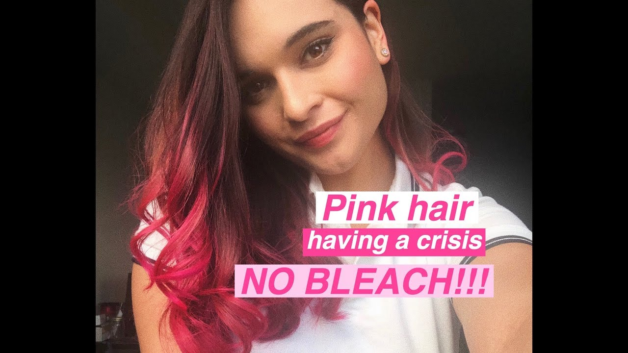 How I Dyed My Brown Hair Pink Using Manic Panic Youtube