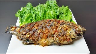How to make fried fish with fish sauce, trei chien tuktrei kaohkong ( ត្រីចៀនទឹកត្រីកោះកុង ) khmer
