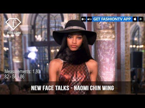 Naomi Chin Wing New Face Model Talks Fall/Winter 2018-19   FashionTV   FTV