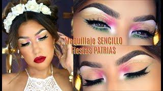 🇲🇽 Maquillaje  SENCILLO para FIESTA MEXICANA 🇲🇽 / 15 de Septiembre VIVA MEXICO / | auroramakeup